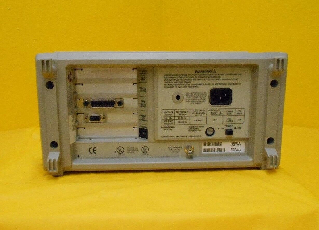 Tektronix TDS 420A 4-Channel Digitizing Oscilloscope TDS420A Used Working