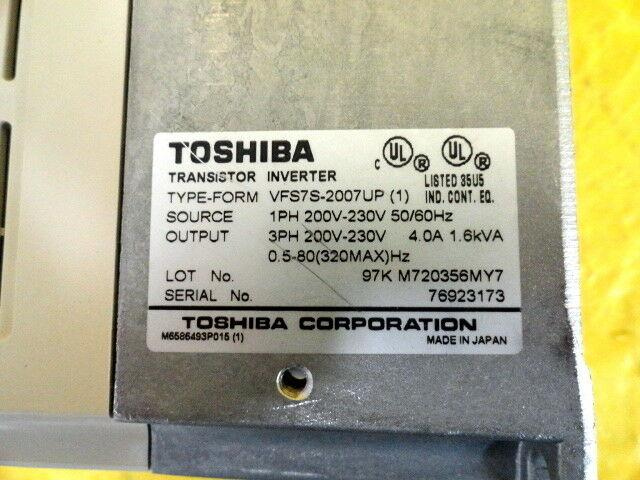 Toshiba VFS7S-2007UP Transistor Inverter Used Working