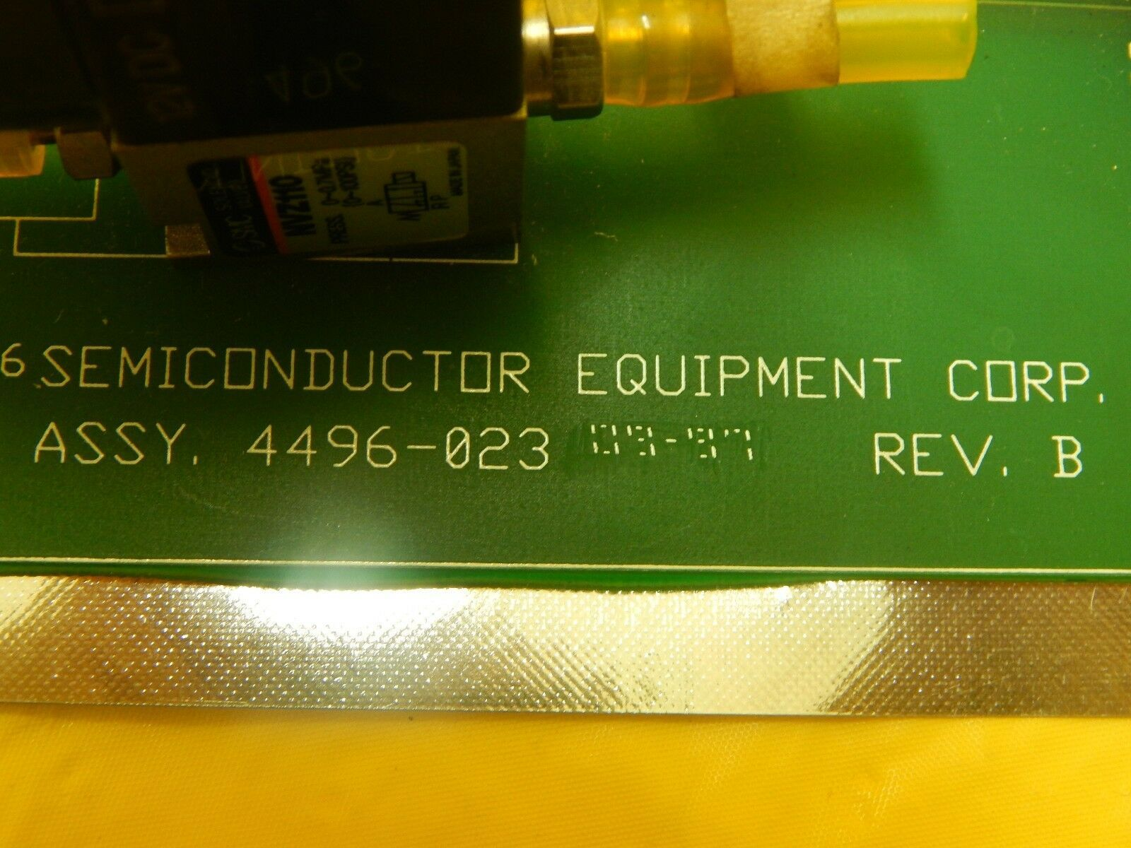 Semiconductor Equipment Corp 4496-023 Pneumatic Manifold PCB 410 Bonder Used