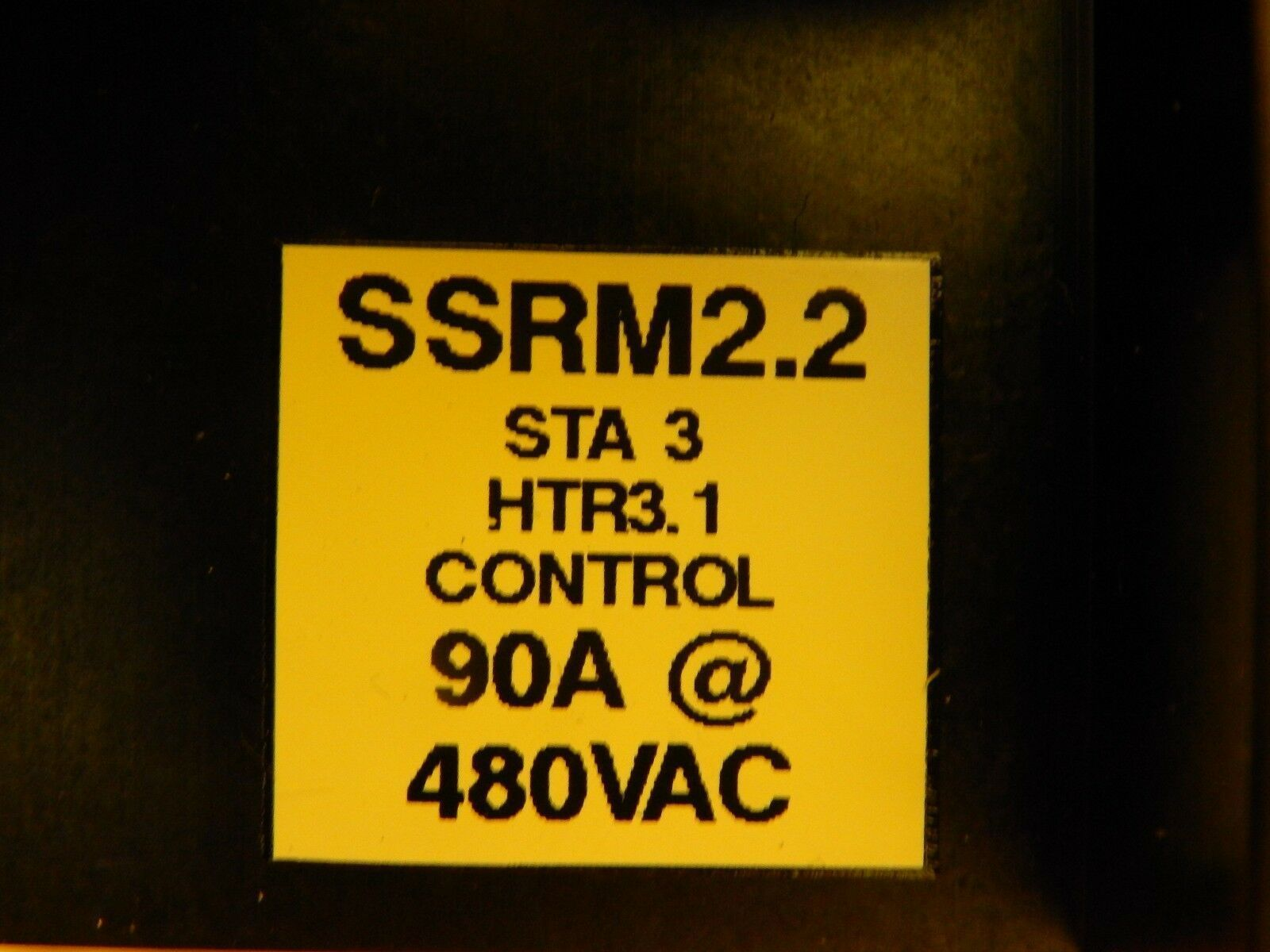 Carlo Gavazzi SSRM2.2 Relay Assembly RA4890-D12 90A @ 480VAC Used Working