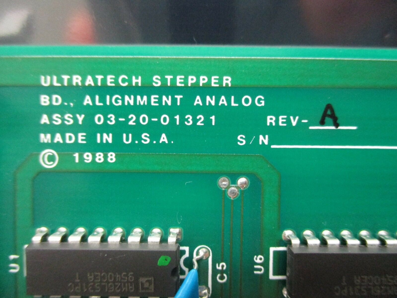 Ultratech Stepper 03-20-01321 Analog Alignment Board PCB Rev. A 4700 Titan Used