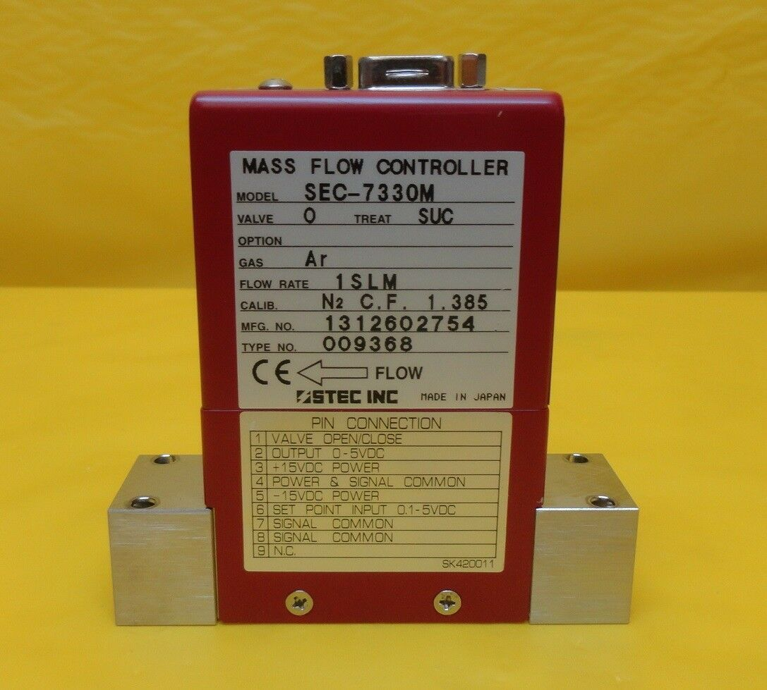 STEC SEC-7330M Mass Flow Controller MFC SEC-7330 1 SLM Ar Used Working