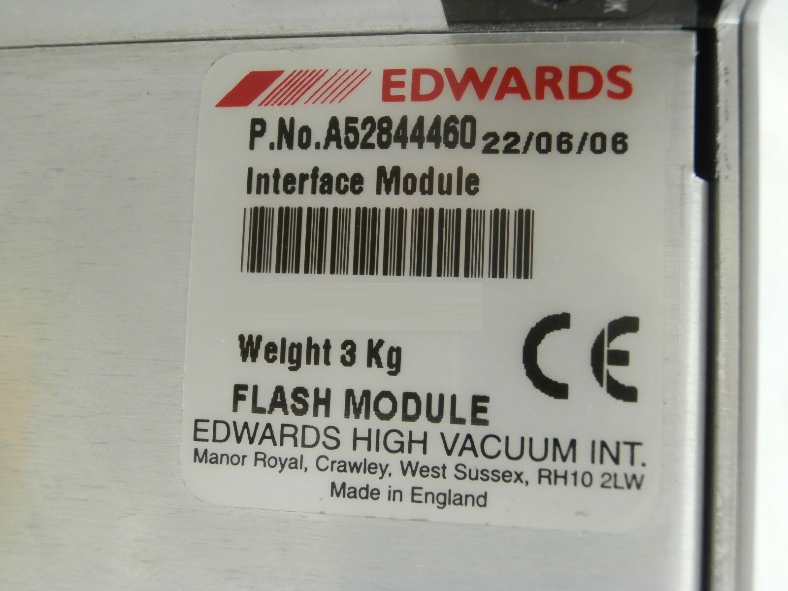 Edwards A52844460 Vacuum Pump im Interface Module Used Working