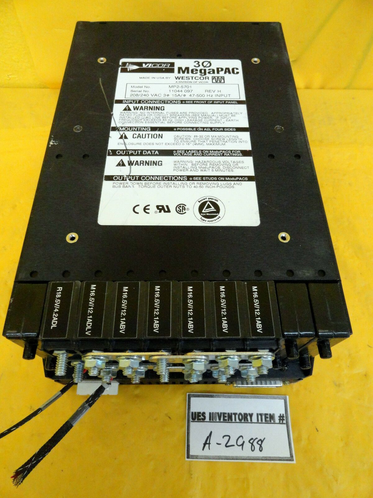 Vicor MP2-5701 Power Supply 3Φ MegaPAC Used Working