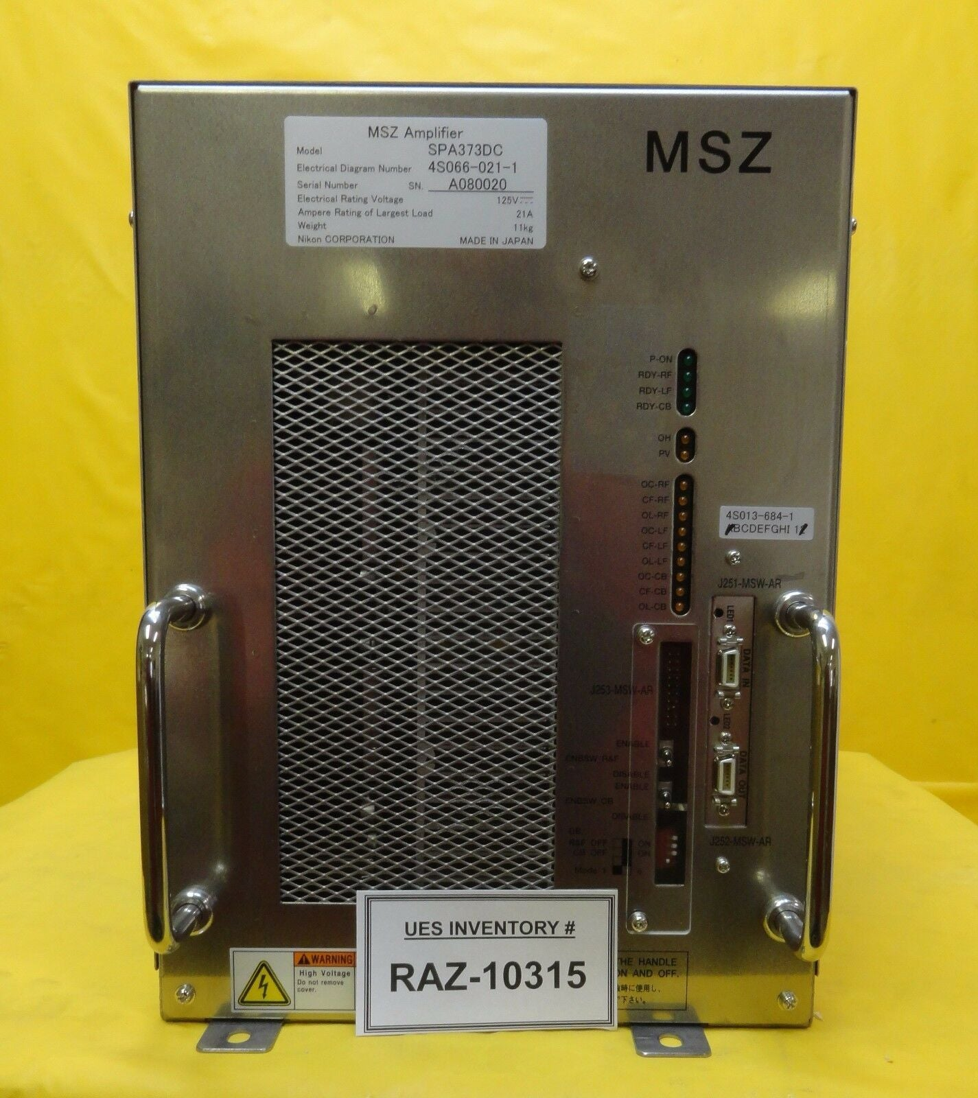 Nikon 4S066-021-1 MSZ Amplifier SPA373DC NSR System Used Working