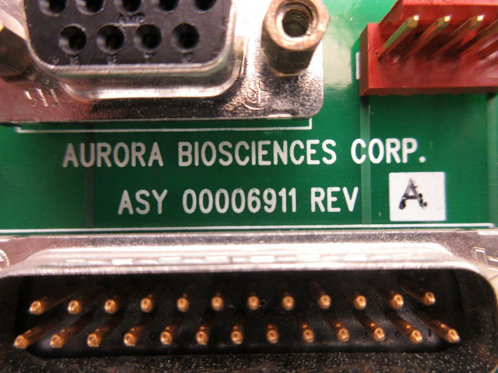 Aurora Biosciences 00006911 6K Breakout Board PCB Rev. A Used Working