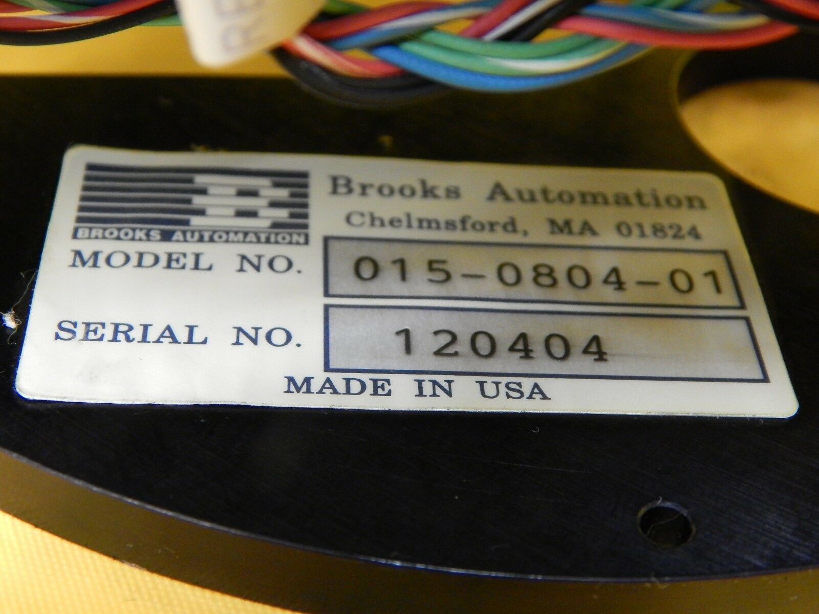 Brooks Automation 015-0804-01 Wafer Aligner Gimbal Assembly Used Working