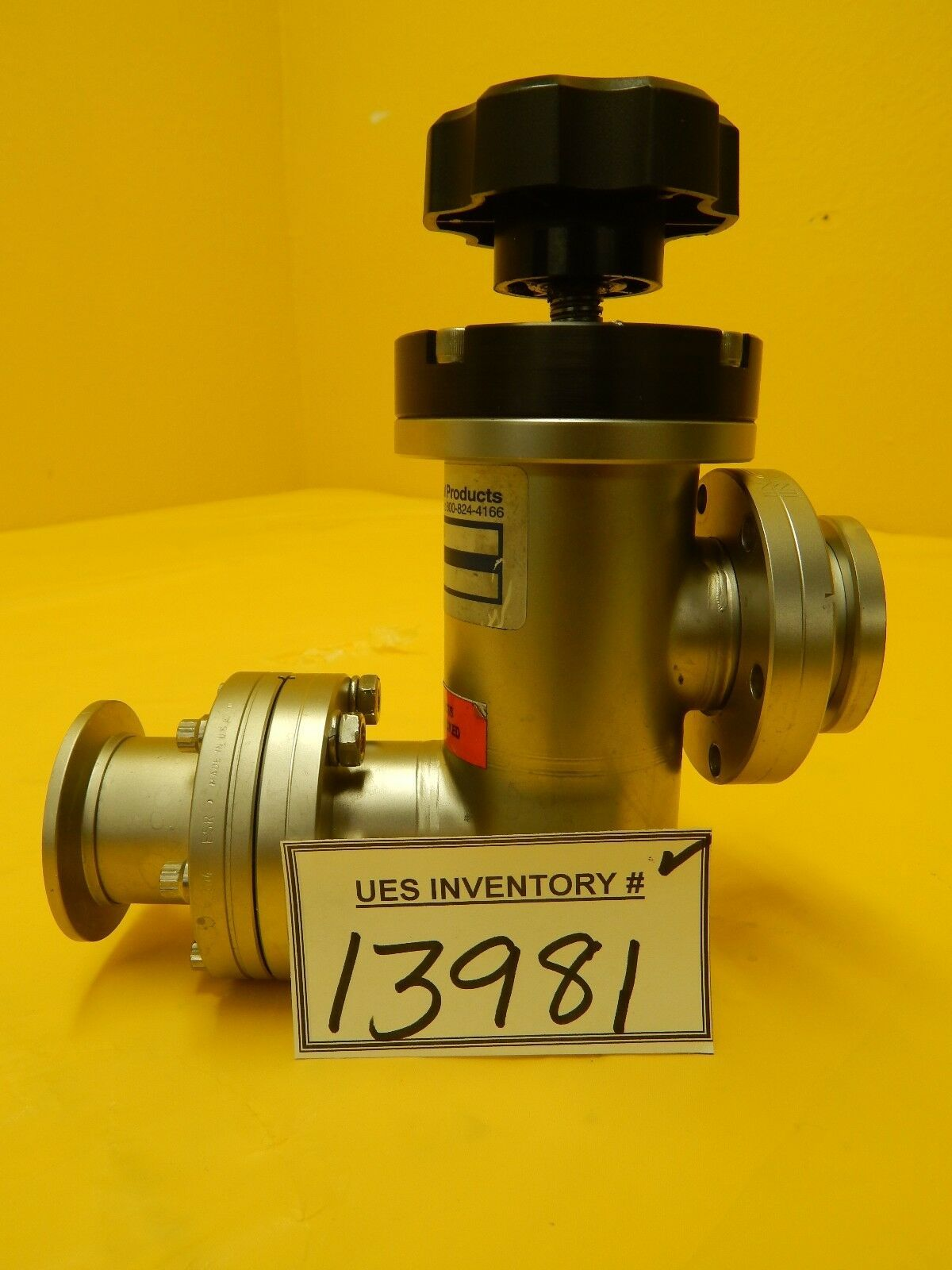 Nor-Cal Products A121178 Manual Angle Isolation Valve Used Working