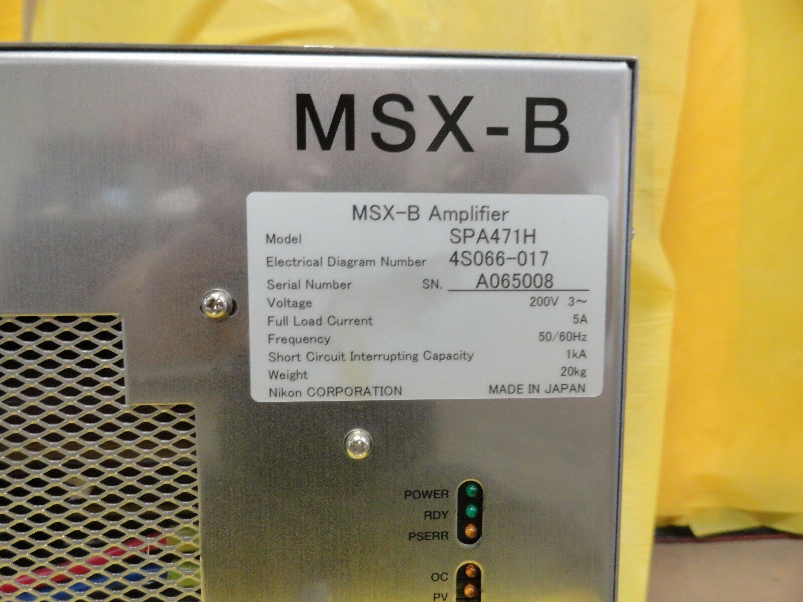 Nikon 4S066-017 MSX-B Amplifier SPA471H NSR System Used Working
