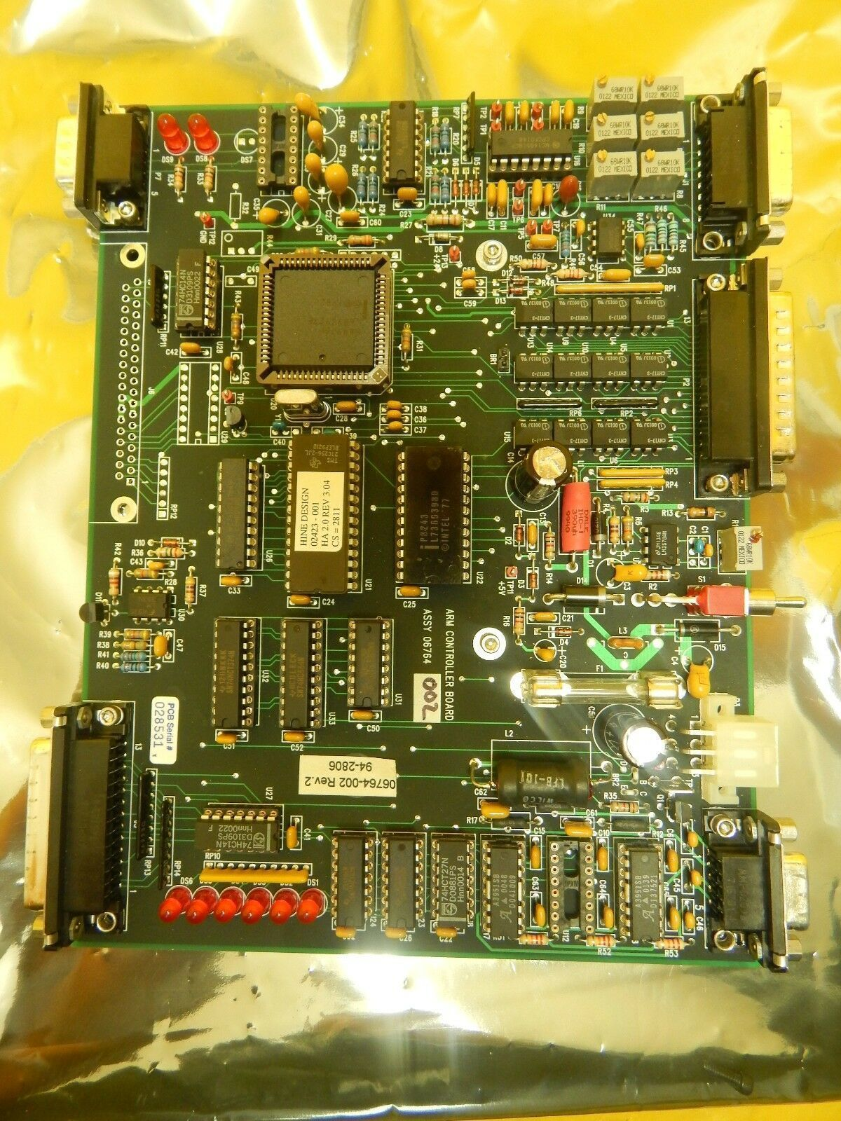 Hine Design 02423-001 Arm Control Board PCB 06764-002 GaSonics A-2000LL Used