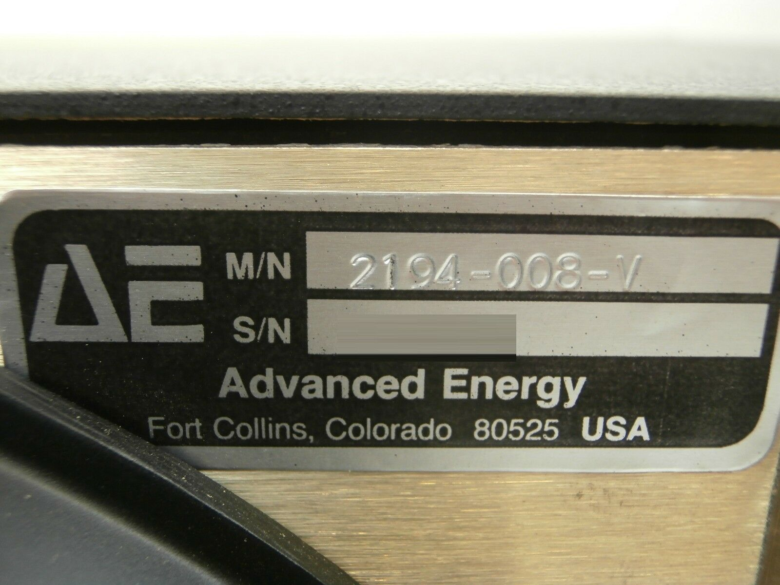 MDX-10K AE Advanced Energy 2194-008-V DC Supply SLAVE Used Tested Working