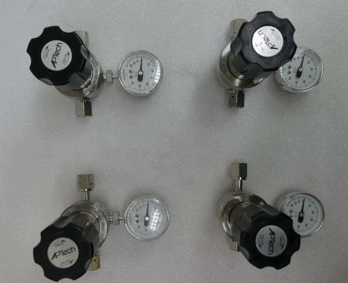 APTech AP1006SM 3PW FV4 FV4 IV4 Single Stage Regulator Valve Lot of 4 Used
