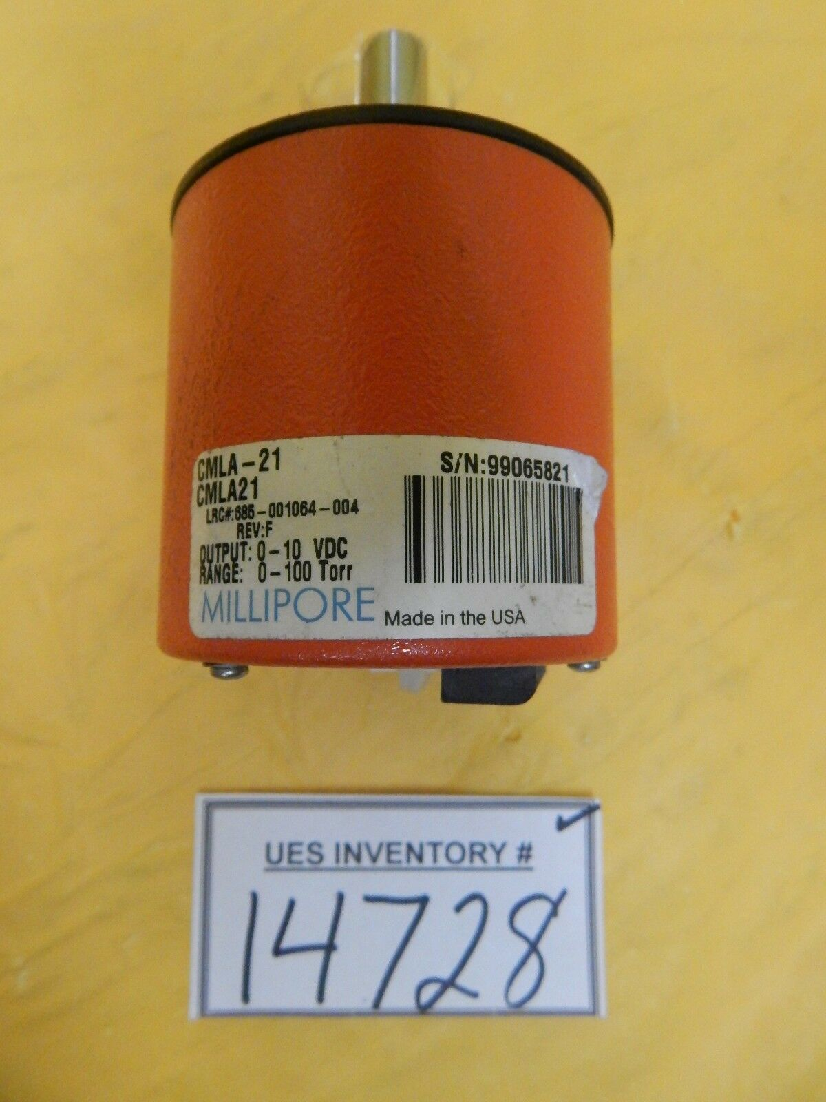 Tylan General CMLA-21 Baratron Lam 853-017643-003-HY-LEAN Used Tested Working