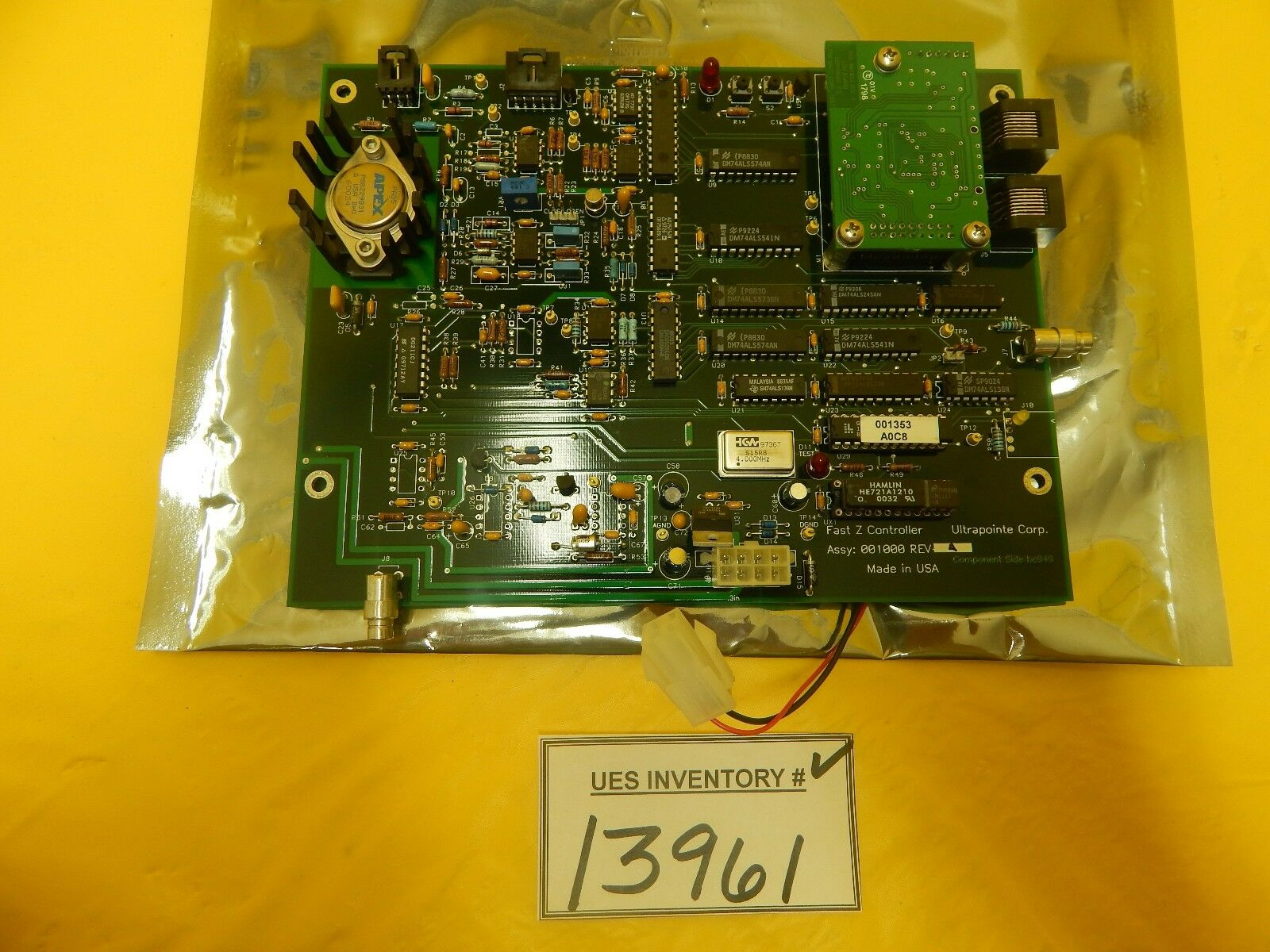 Ultrapointe 001000 Fast Z Controller PCB Rev. A KLA-Tencor CRS-3000 Used Working