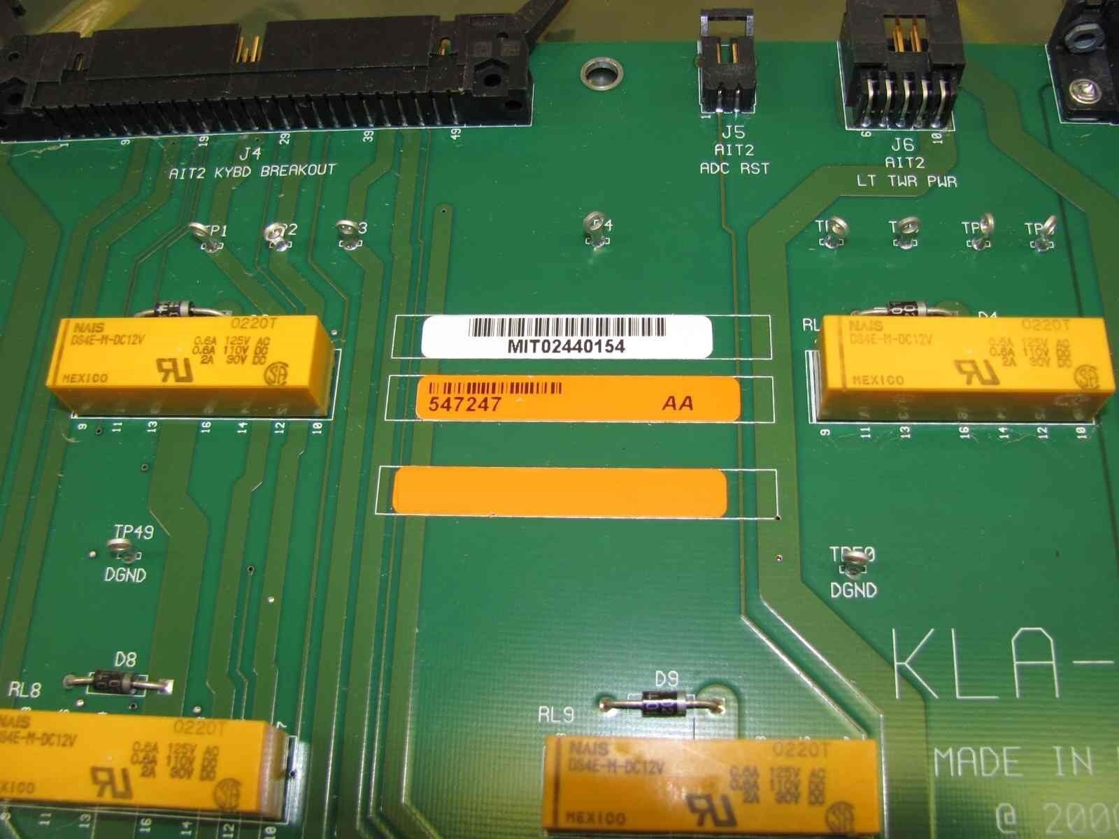 KLA-Tencor 547247 Rev AA UI Splitter Board AIT 2 Used Working