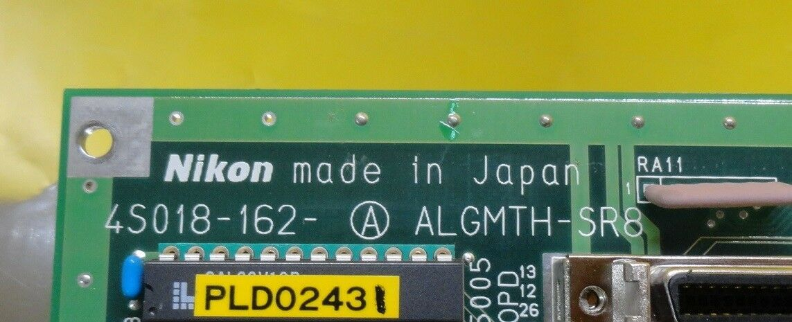 Nikon 4S018-162-A Backplane Interface Board PCB ALGMTH-SR8 NSR-S202A Used