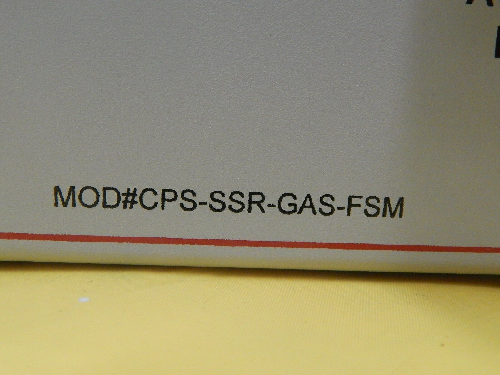 CPS Control Process Systems GAS-SSR-MOD Test Module CPS-SSR-GAS-FSM Used Working