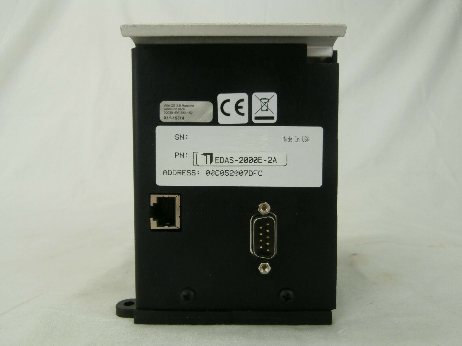Intelligent Instrumentation EDAS-2000E-2A PLC Control Unit EDAS-2000E-1 Used