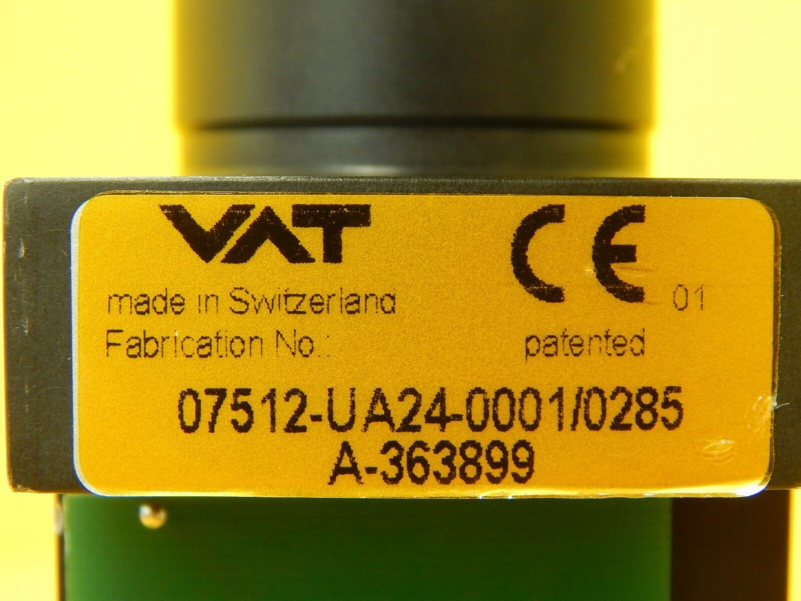 VAT 07512-UA24-0001 Pneumatic Atmospheric Door Actuator Slit Valve Used Working