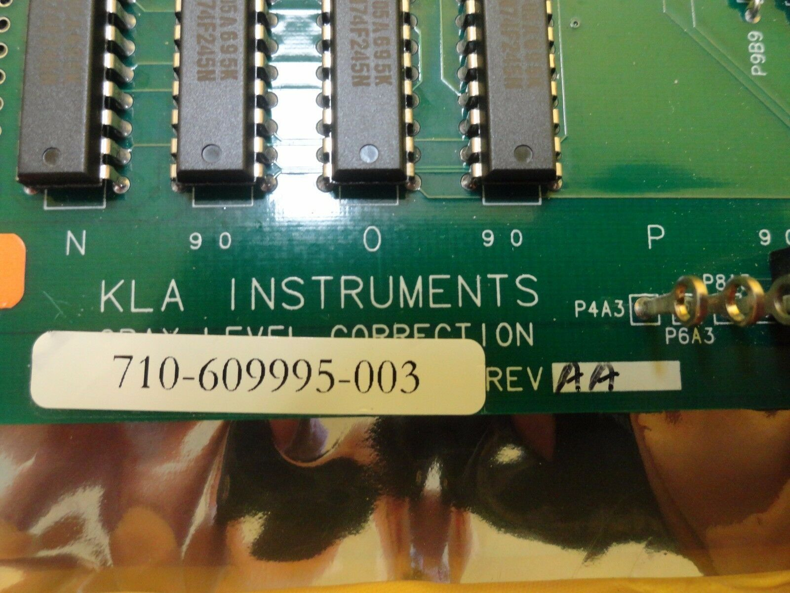 KLA Instruments 710-609995-003 Gray Level Correction PCB Card 073-609995-000 Use