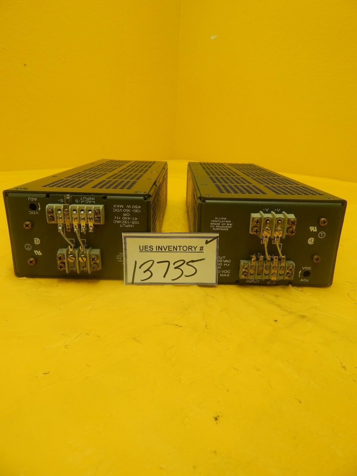 Lambda LGS5A-24-OV-R Regulated Power Supply Reseller Lot of 2 Used Working