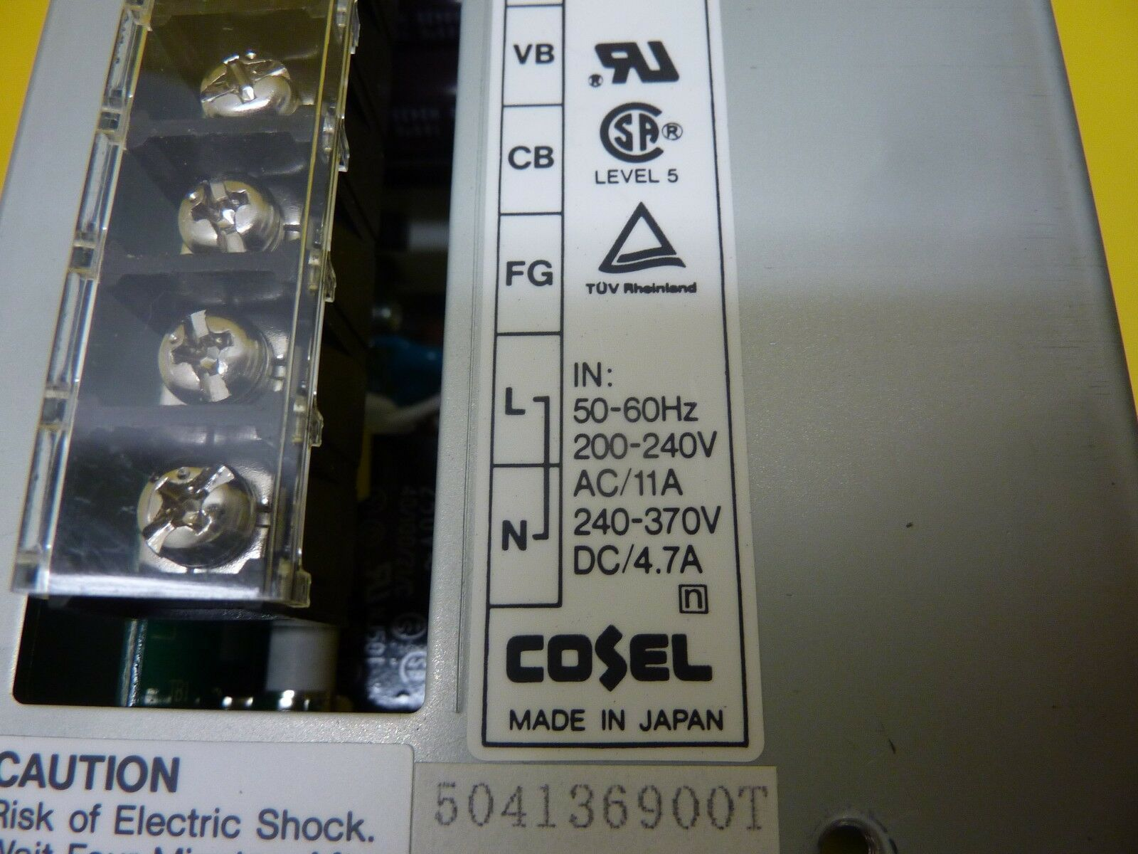 Cosel 504136900T AC/DC Adjustable Voltage Power Supply AD960-30 Used Working
