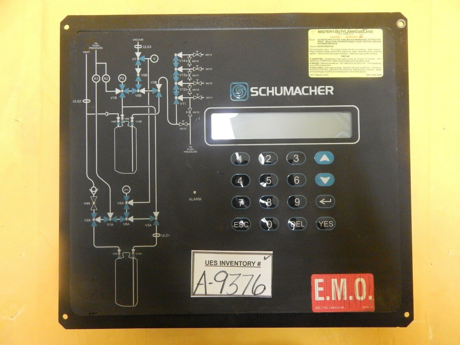 Schumacher 1730-3013 Operator Interface Control Panel Assembly Rev. D.1 Used