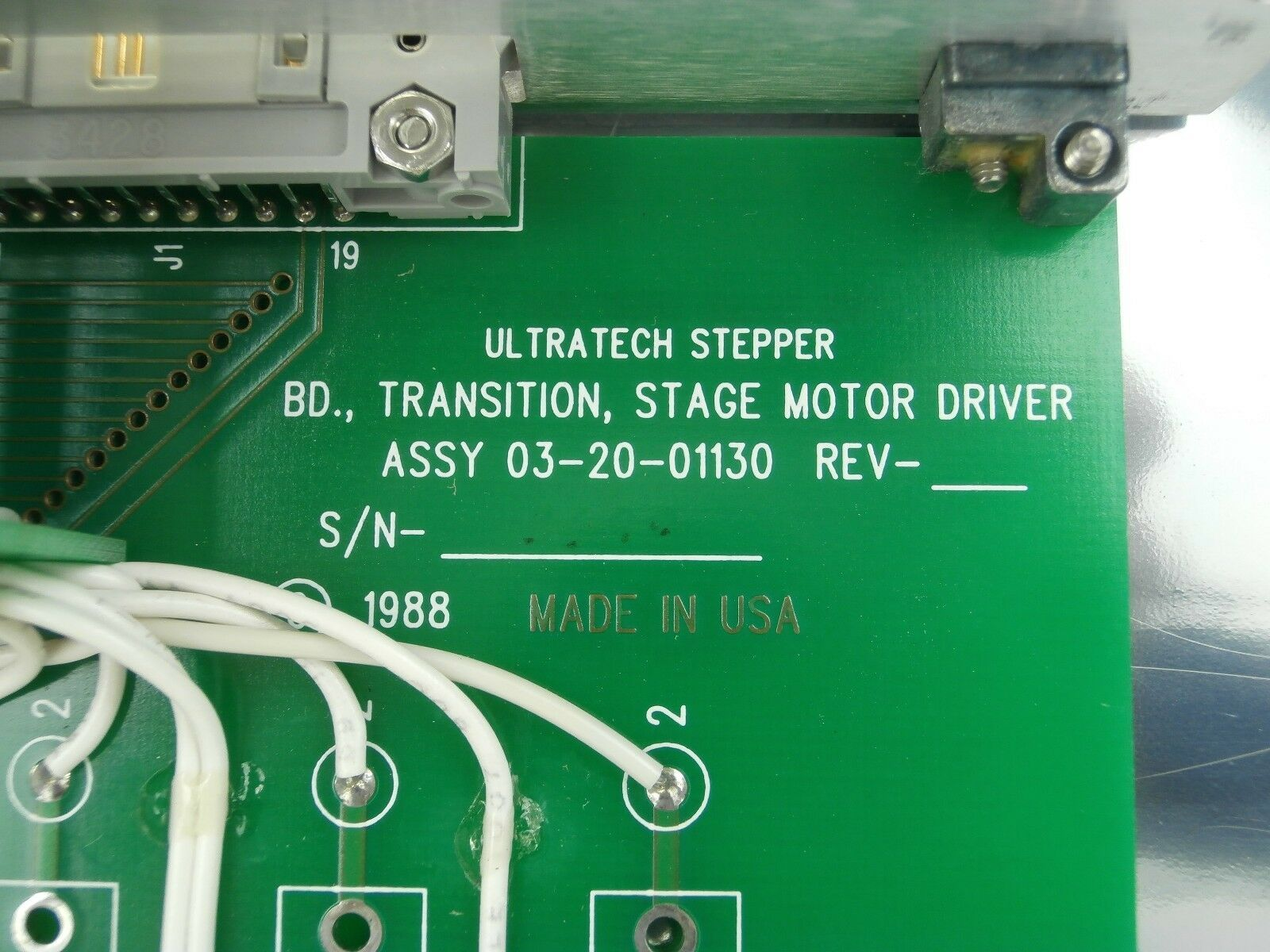Ultratech Stepper 03-20-01130 Transition Stage Motor Driver PCB Card Left Y