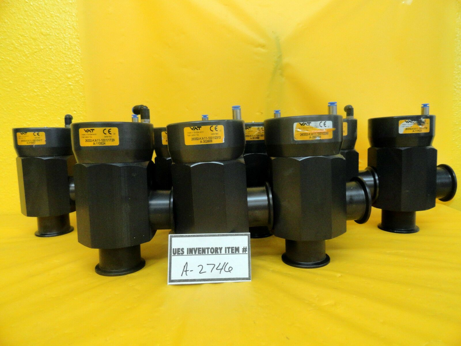 VAT 26332-KA11-1001 Right Angle Isolation Valve Lot of 9 Used Working