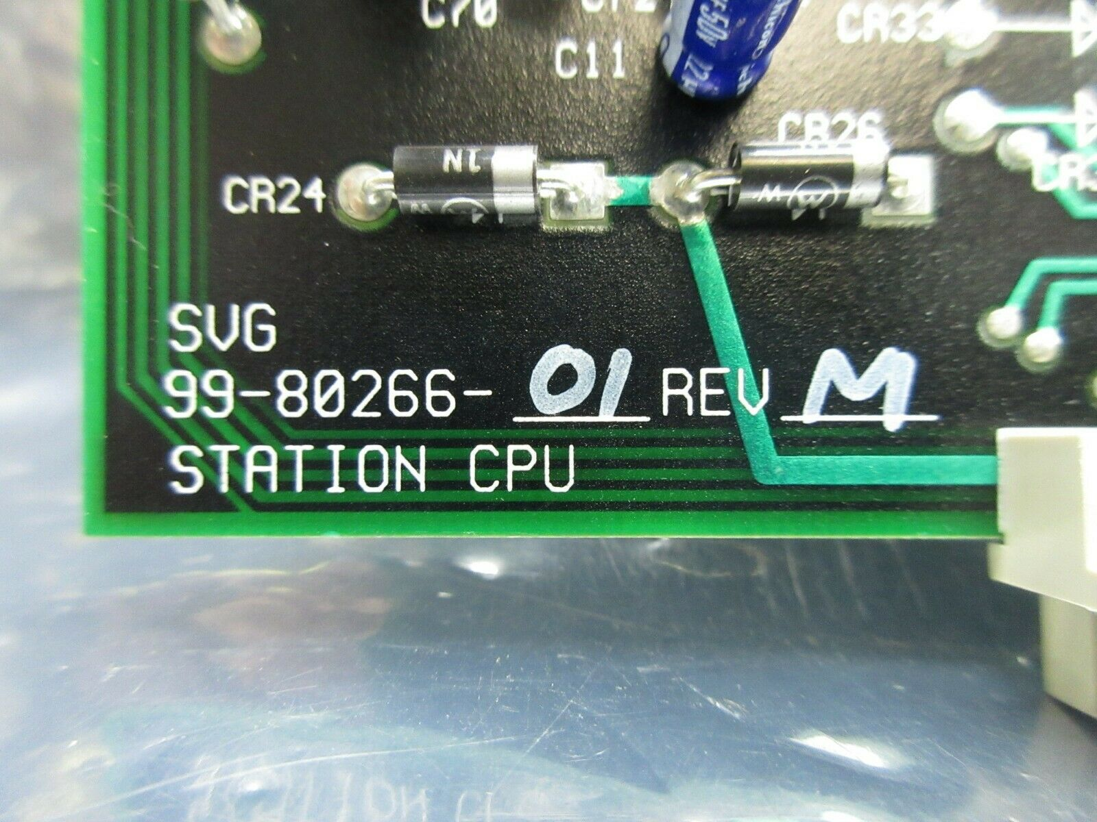 SVG Silicon Valley Group 99-80266-01 Coater Station CPU PCB Card Rev. M 90S Used