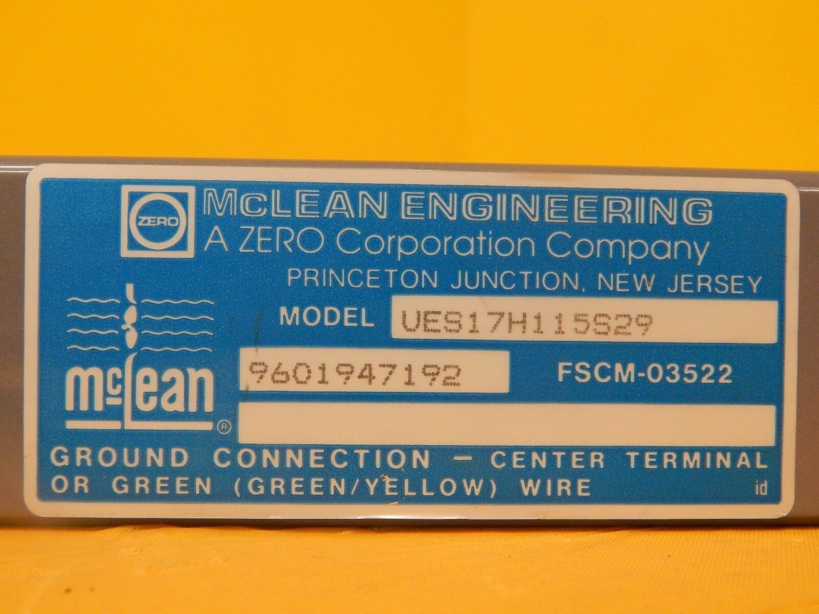 McLean Engineering UES17H115S29 Fantray AMAT 0190-70066 P5000 Used Working