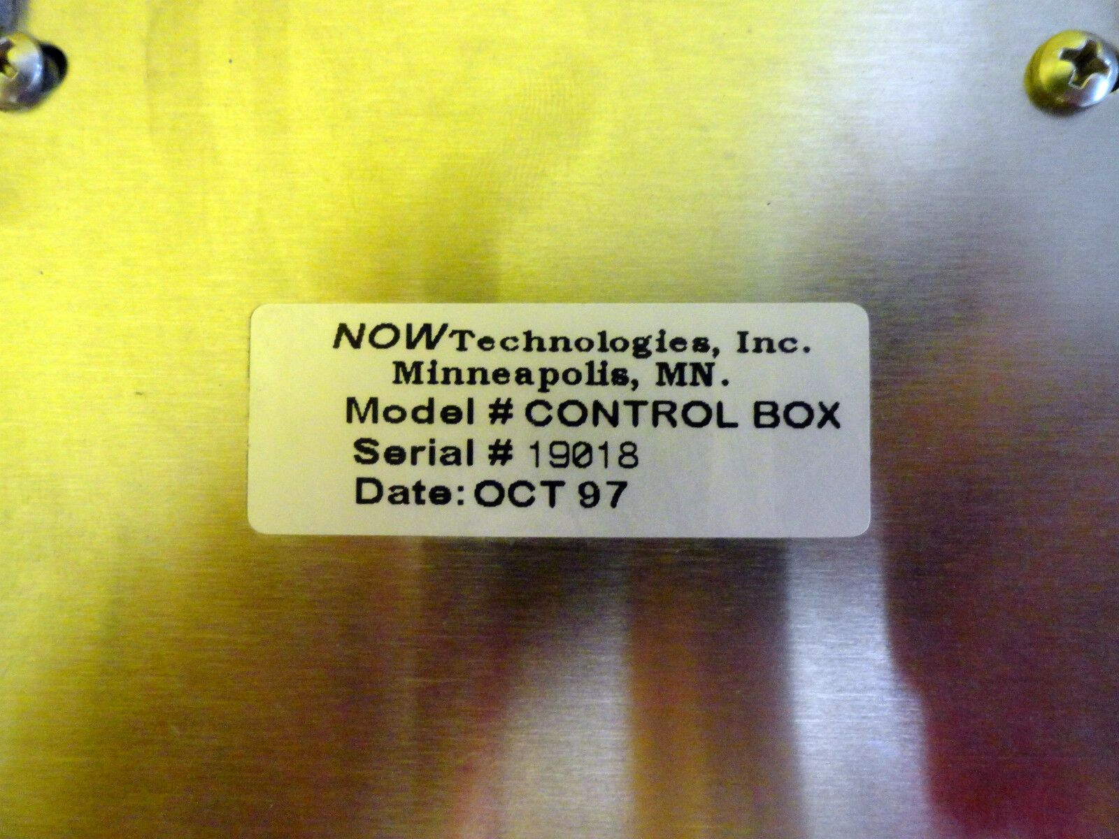NOW Technologies Nowpack Level Monitor Control Box Lot of 3 Used Working