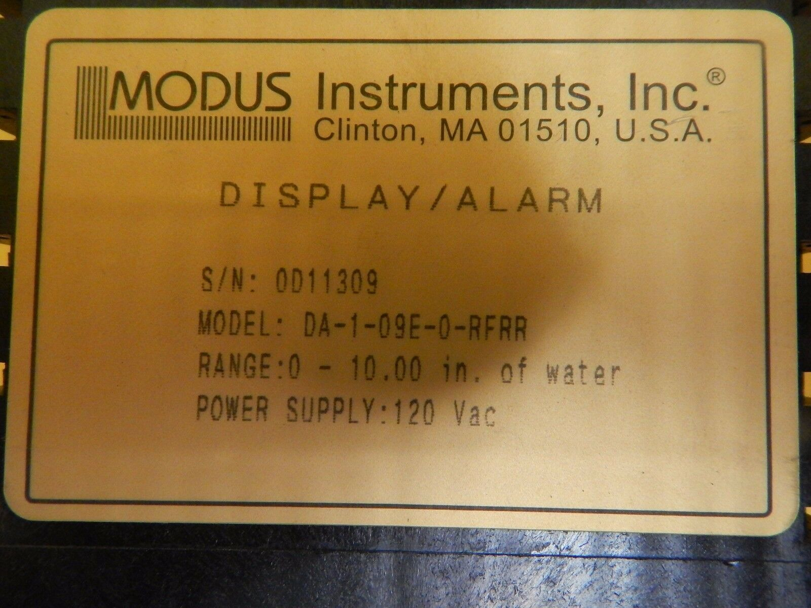 Modus Instruments DA-1-09E-0-RFRR Display Alarm Lot of 2 Used Working