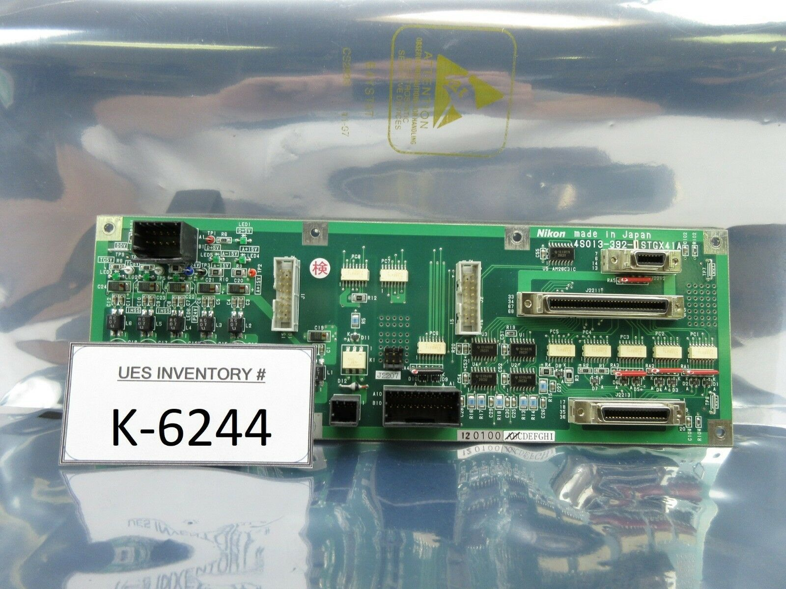 Nikon 4S013-392-1 Relay Interface Board PCB STGX41A NSR-S306C System Used