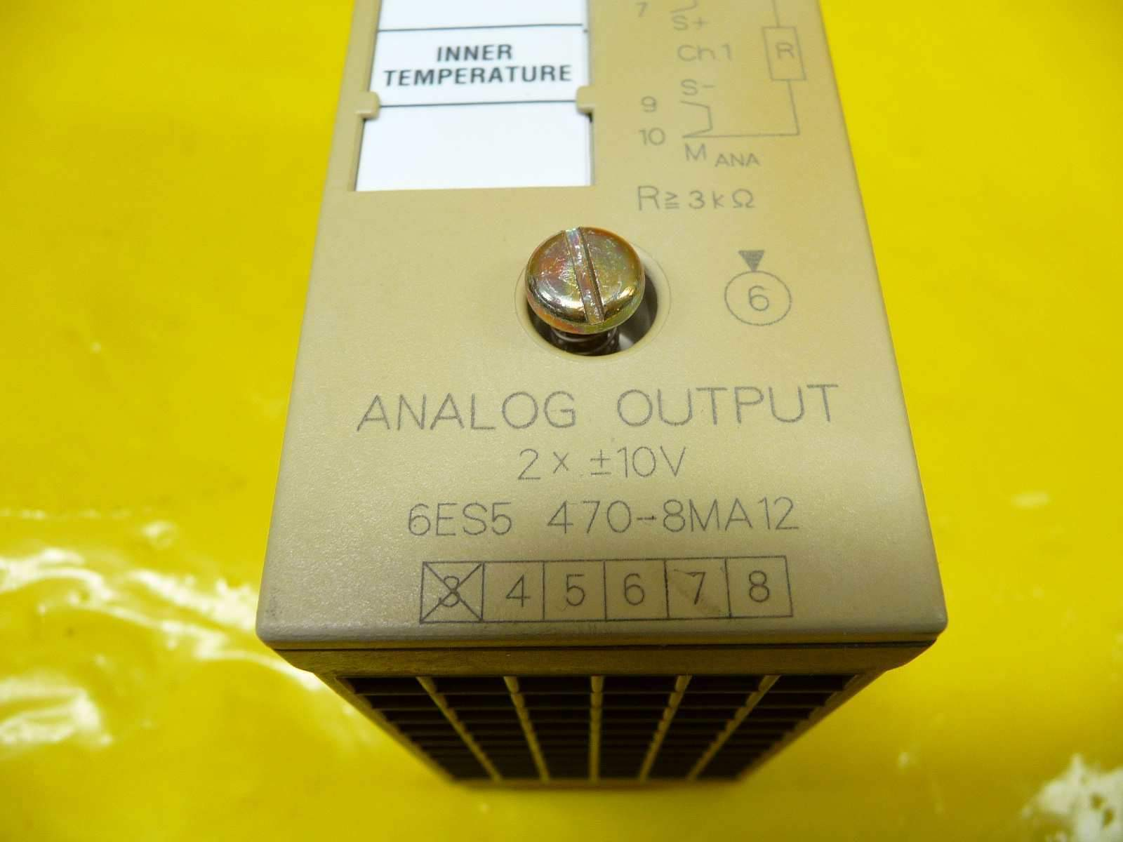 Siemens 6ES5 470-8MA12 Analog Output SIMATIC S5 Used Working