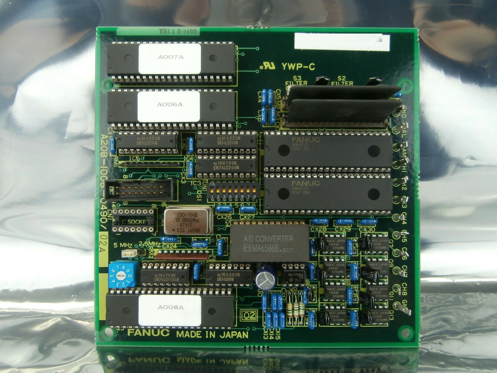 Fanuc A20B-1006-0490/02A Servo Test Board PCB Nordiko 9550 Used Working