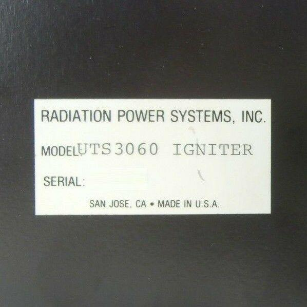 RPS Radiation Power Systems UTS3060 Igniter Module Ultratech 4700 Bent Used