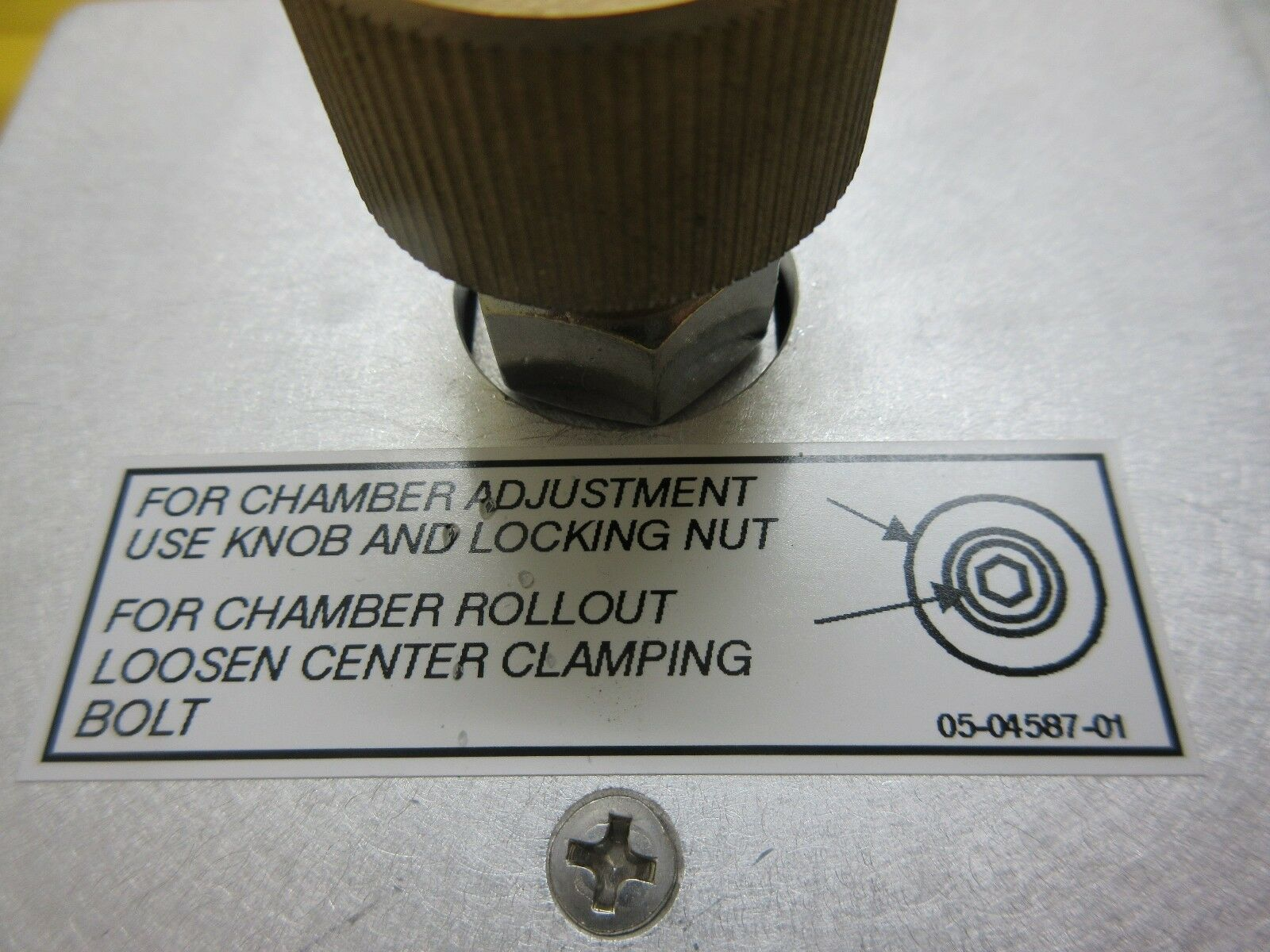 Cymer 05-04556-01 Chamber Adjustment Panel ELS-6400 Laser System Used Working