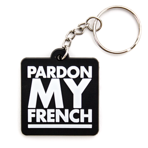 PMF SQUARE KEYRING BLACK