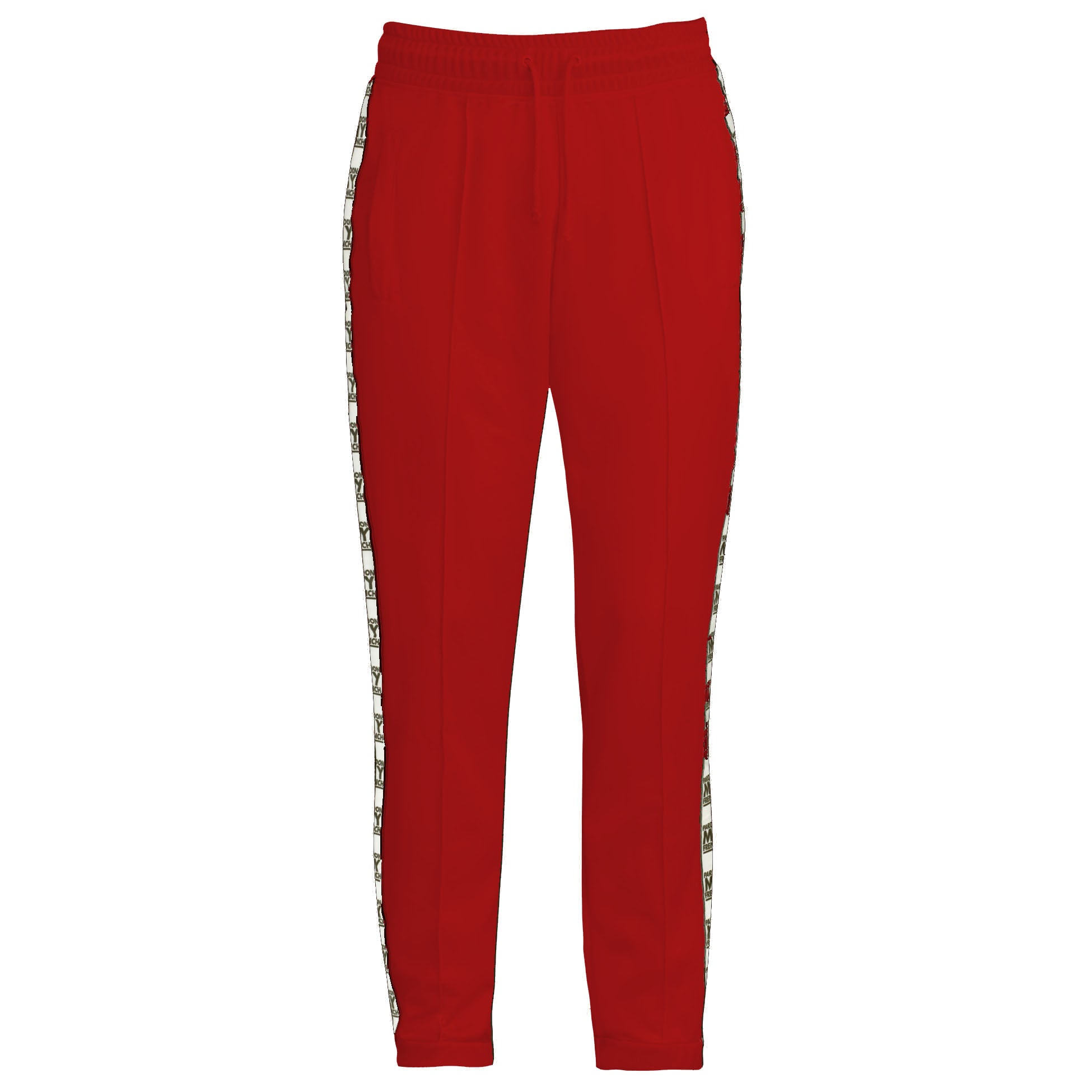 RED PARDON MY FRENCH RETRO PANTS