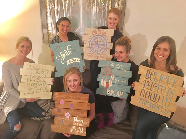 Stencilsandboards, have a pallet party today.