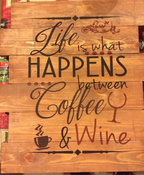 Life Is What Happens Between Coffee and Wine #3193