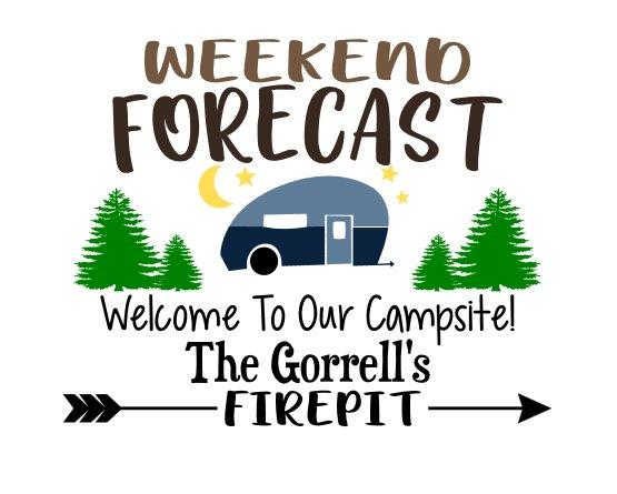 Weekend Forecast, Welcome to our Campsite!  #3760