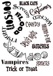 Decorative Halloween Words #D561