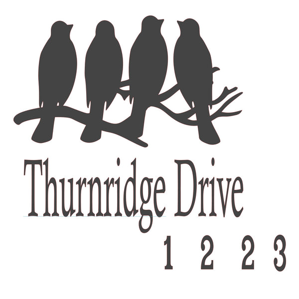 Bird Address Sign D645