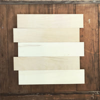 "15""x17"" Staggered Blank Wooden Pallet Signs (Smooth and Ready to Paint)"