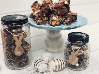Easter Themed Rocky Road Jars