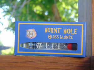 "Glass blunts - #1 Glass blunt Chrome LIT Swish Edition - ""Extra replacement glass included!"" - burntholeglassblunts"