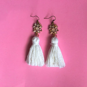 Nicole Tassel Earring | Pretty in Pink