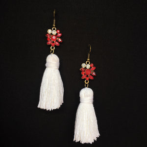 Nicole Tassel Earring | Apple Martini